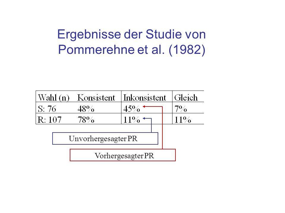 Erklärungen Intransitive Präferenzen: $ S ~ S R ~ $ R $ S.