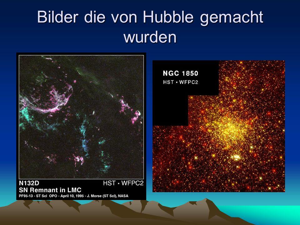 Bilder die von Hubble gemacht wurden