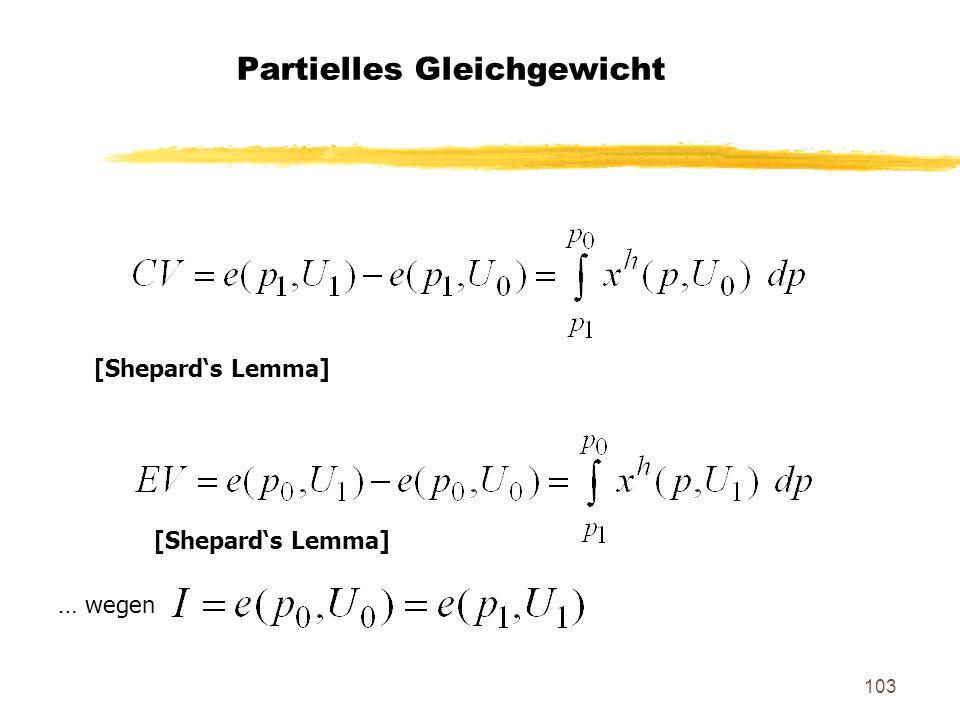 103 Partielles Gleichgewicht [Shepards Lemma] … wegen