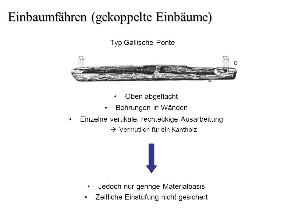 Rekonstruktion einer gekoppelten Einbaumfähre (Kröger 2011)
