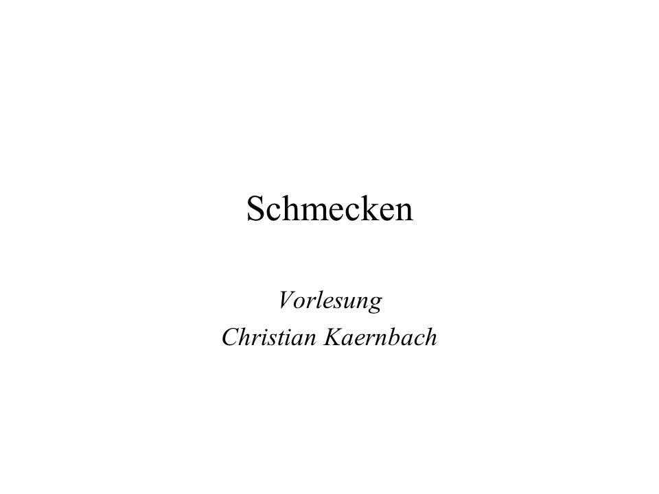 Schmecken Vorlesung Christian Kaernbach