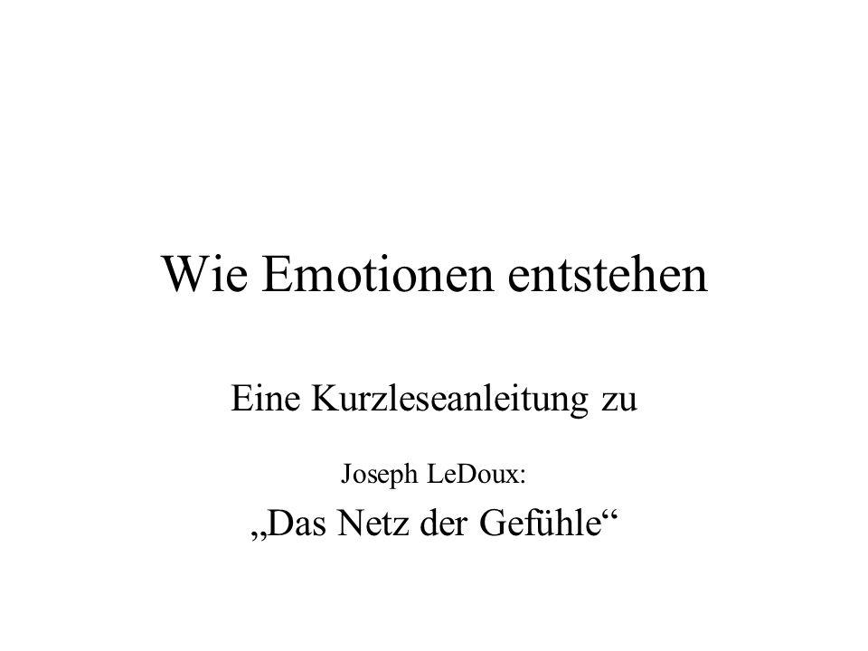 Elementare Reaktionen Ortony & Turner, 1990: –nicht Emotionsausdrücke sind elementar, sondern (nicht-emotionale) Reaktionen.