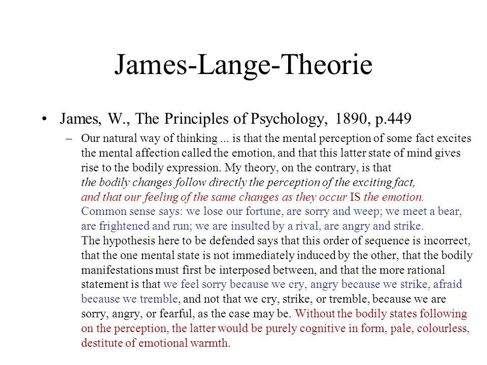 Wie dumm ist das Autonome Nervensystem.James, W., The Principles of Psychology, 1890, p.