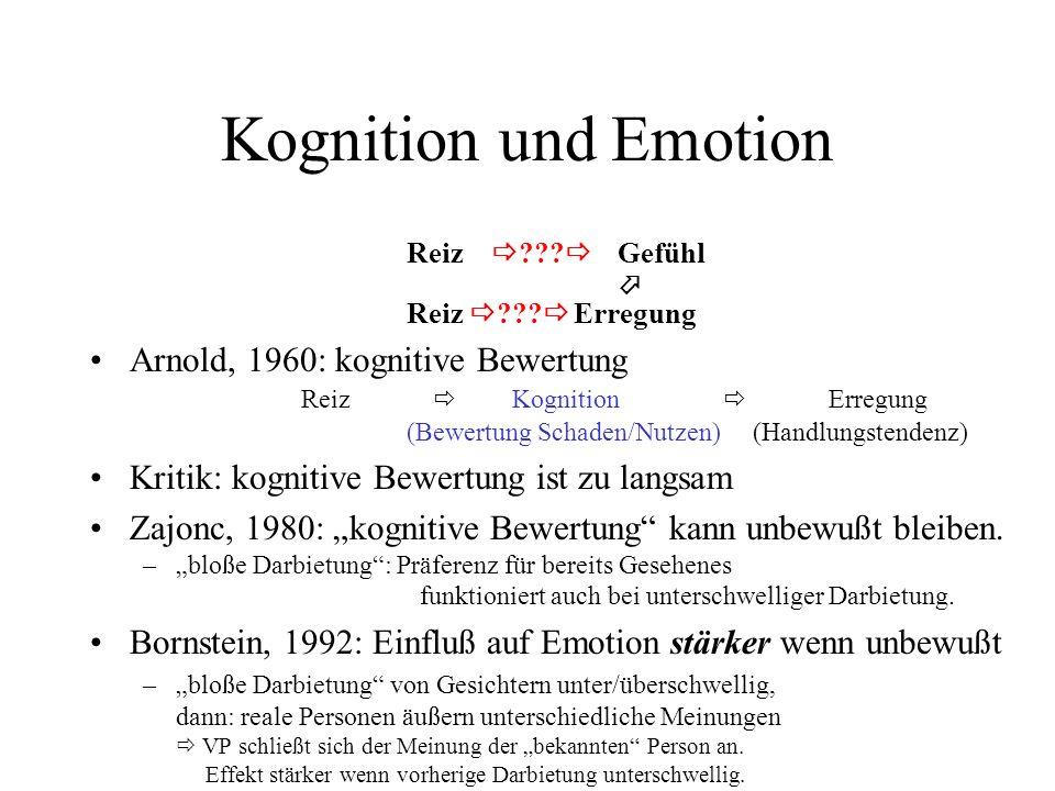 Systemkritik Kritisch zu sehen sind Systeme, die die ganze Emotion erklären –Limbisches System –ein vollständiger Satz von gleichberechtigten Elementaremotionen komplexere Emotionen werden gemischt –Dimensionale Erfassung des emotionalen Raumes Emotionale Vorgänge verwenden elementare Module –hierarchische Struktur z.