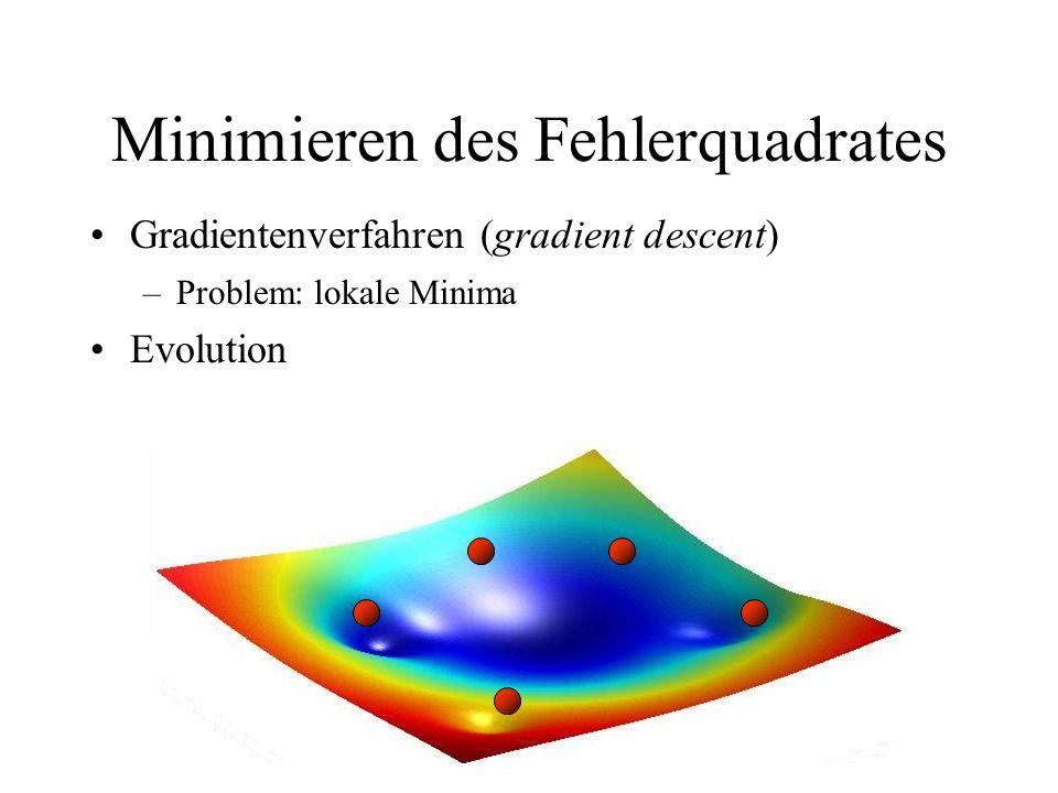 Minimieren des Fehlerquadrates Gradientenverfahren (gradient descent)
