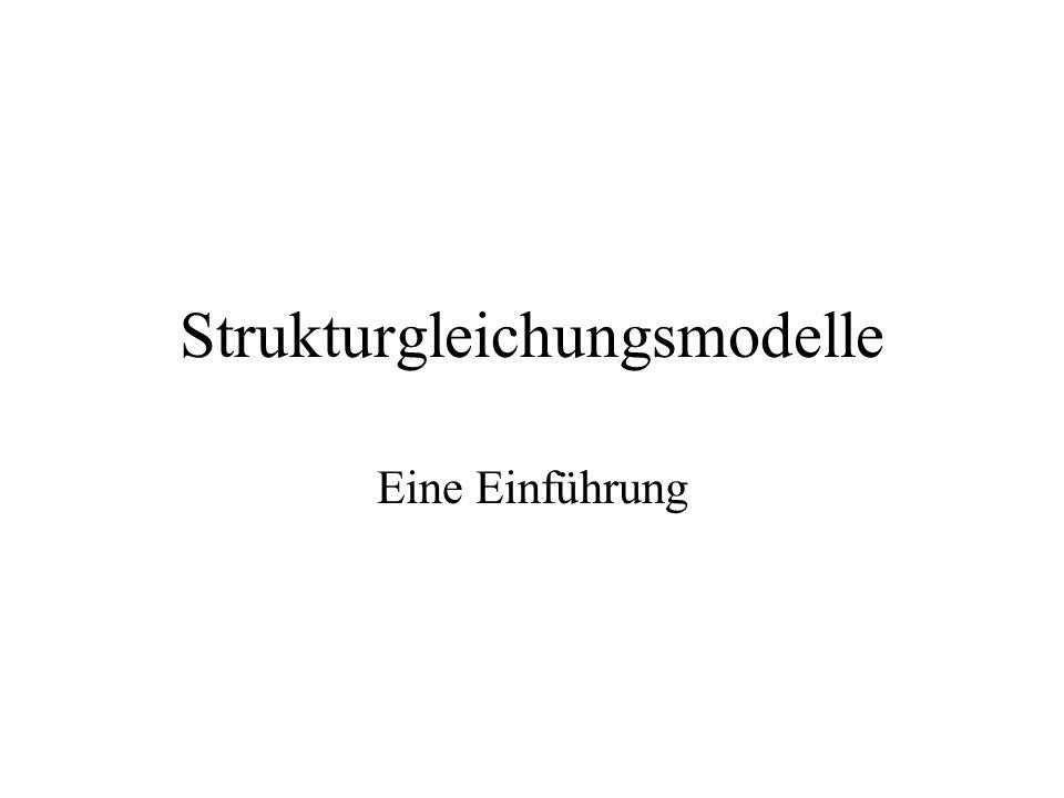 Strukturgleichungsmodelle Eine Einführung