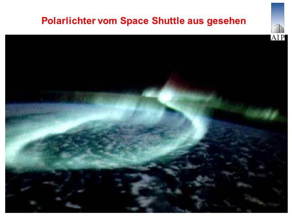 Polarlichter vom Space Shuttle aus gesehen