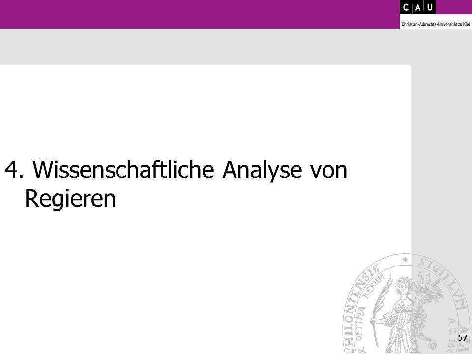 57 4. Wissenschaftliche Analyse von Regieren