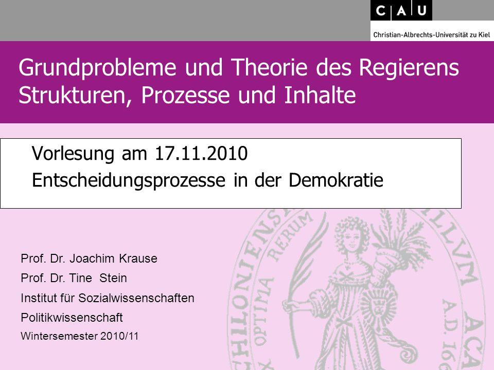 2 2 Thema heute: Entscheidungsprozesse in der Demokratie 1.