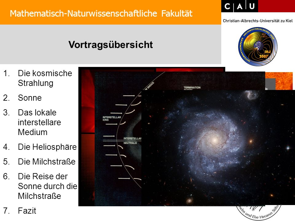Entdeckung der kosmischen Strahlung Mathematisch-Naturwissenschaftliche Fakultät 1912: Viktor Hess unternimmt Ballonflug zur Untersuchung der Radioaktivität Er entdeckt die Höhenstrahlung 1936: Nobelpreis