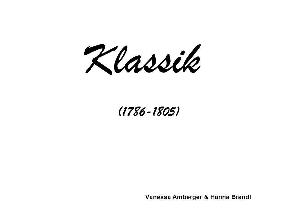 Klassik Vanessa Amberger & Hanna Brandl (1786-1805)