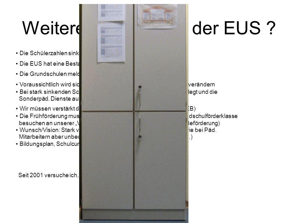 Weitere Entwicklung der EUS .