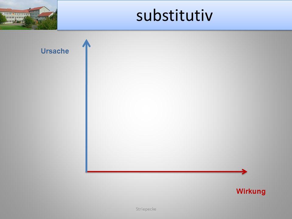 substitutiv Striepecke Ursache Wirkung
