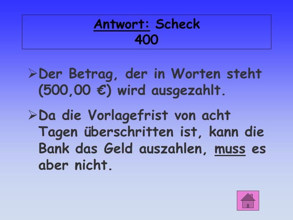Scheck 400