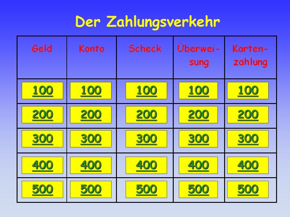 Antwort: Scheck 100 Durch den Vermerk Nur zur Verrechnung auf dem Barscheck.