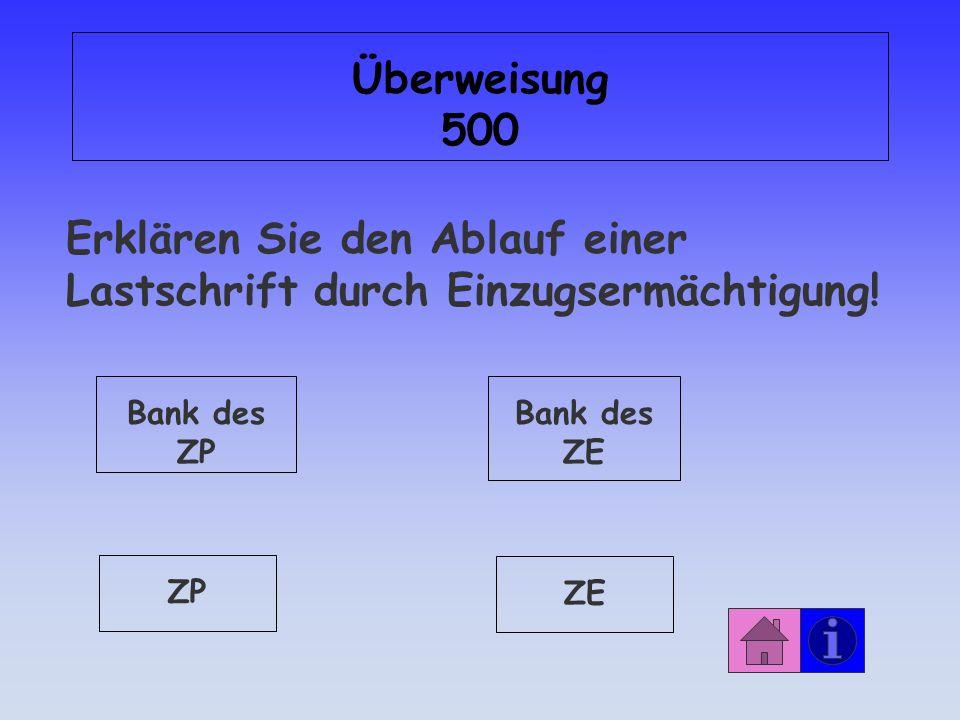 Antwort: Überweisung 400 Dauerauftrag: gleiche Beträge i.d.R.