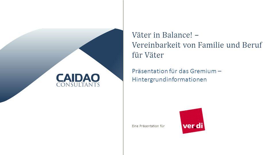 Eine Präsentation für Väter in Balance! – Vereinbarkeit von Familie und Beruf für Väter Präsentation für das Gremium – Hintergrundinformationen