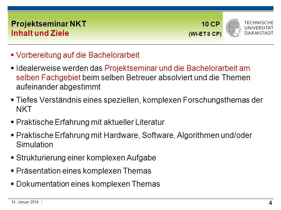 5 Proseminar ETIT (Literaturseminar) in der NKT: 2 CP Theoretischer Hintergrund: Wissenschaftliche Arbeiten Schreiben und Präsentieren, Professor Bruder, 4.