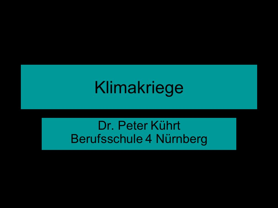 Kührt - Klimakriege Ein deutscher Durchschnittsraucher vernichtet alle drei Monate einen Tropenbaum.