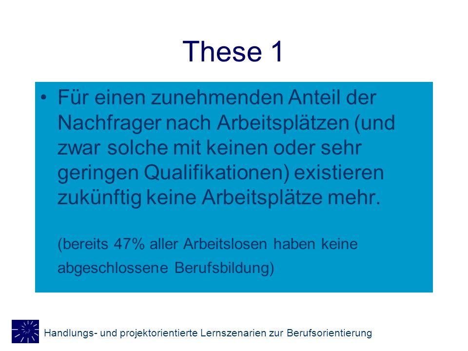 Handlungs- und projektorientierte Lernszenarien zur Berufsorientierung Polarisierung durch technisch- organisatorischen Wandel Qualifikations- anforderungen Geringere Qualifikations- anforderungen Höhere Qualifikations- anforderungen