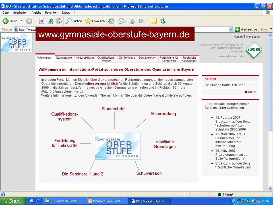 Link www.gymnasiale-oberstufe-bayern.de