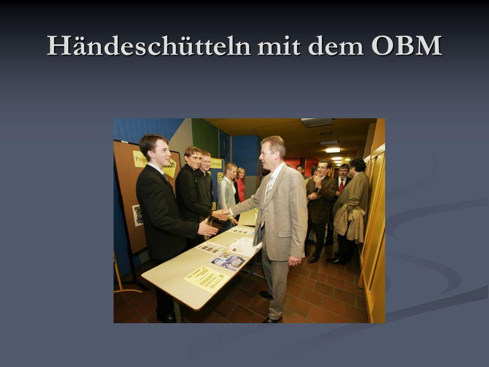 Händeschütteln mit dem OBM