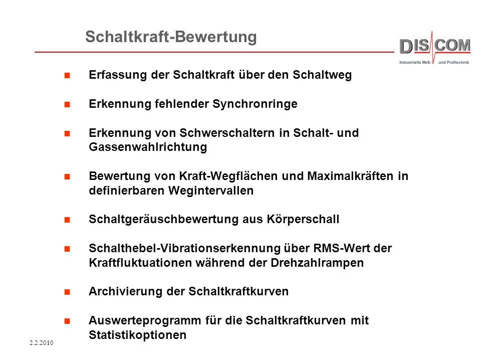 2.2.2010 Discom Industrielle Meß- und Prüftechnik Die Firma wurde 1985 gegründet.