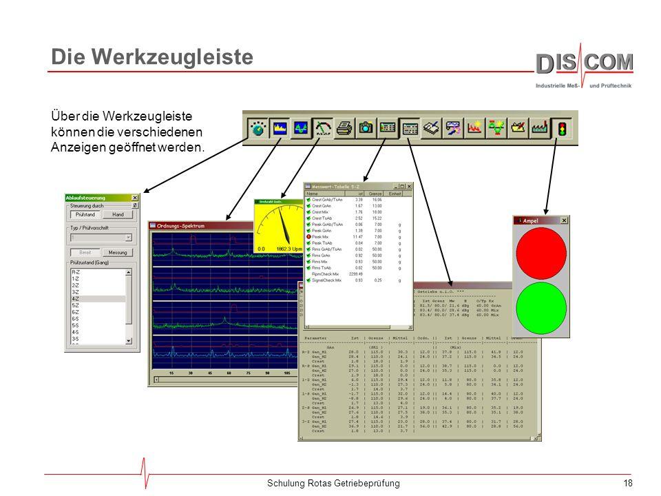 17Schulung Rotas Getriebeprüfung Das Lange Protokoll Registro para los valores medidos parámetro valor | límite | promed. | orden || valor | límite |