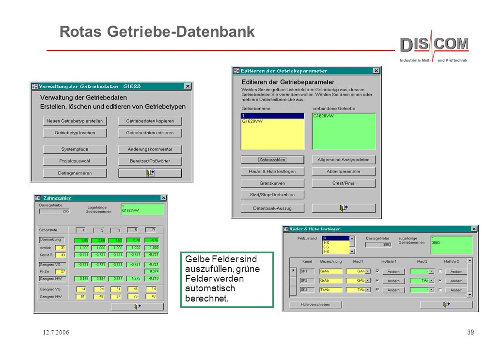 12.7.200638 Zur Überwachung von Ordnungsspektren über einen Produktionszeitraum eignen sich Campbell- oder 3-D- Diagramme. Schnittlinien zeigen die Da