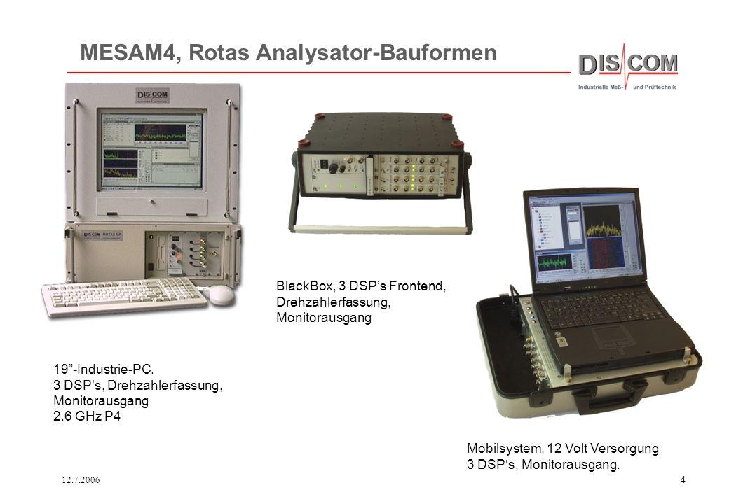 12.7.200614 5060708090100110120130Ord 40 50 60 70 80 dBV Mix Antrieb Umdrehungssynchrone Analyse liefert nach Mittelung periodische Signale, die ohne Fourier-Fenster analysiert werden können.