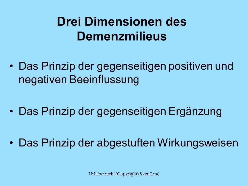 Drei Dimensionen des Demenzmilieus Das Prinzip der gegenseitigen positiven und negativen Beeinflussung Das Prinzip der gegenseitigen Ergänzung Das Pri