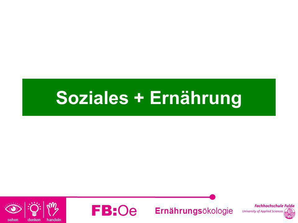 sehen denken handeln Ernährungsökologie FB:Oe Soziales + Ernährung