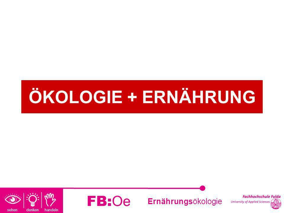 sehen denken handeln Ernährungsökologie FB:Oe ÖKOLOGIE + ERNÄHRUNG
