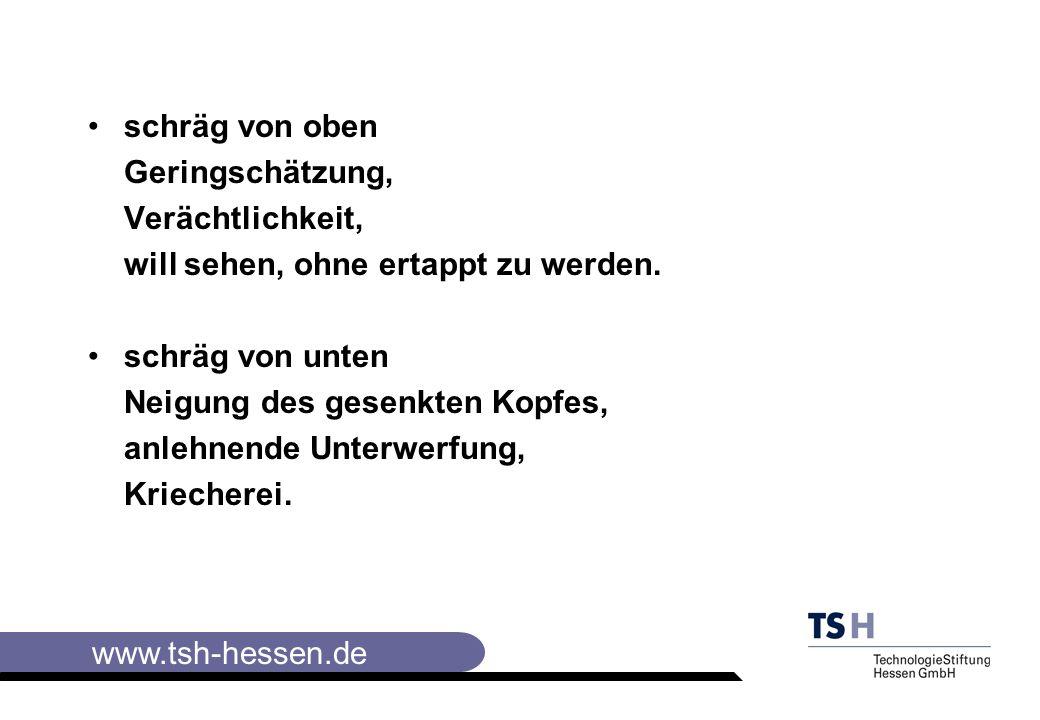 www.tsh-hessen.de schräg von oben Geringschätzung, Verächtlichkeit, will sehen, ohne ertappt zu werden.