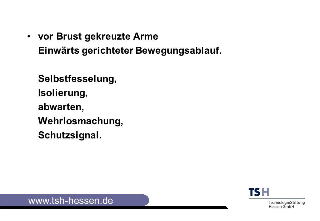 www.tsh-hessen.de vor Brust gekreuzte Arme Einwärts gerichteter Bewegungsablauf.