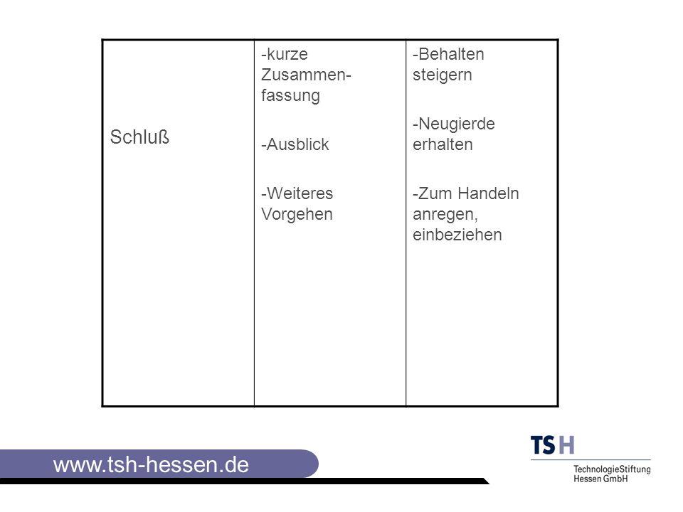 www.tsh-hessen.de Diskussion Welche Eröffnungsfrage man stellen wird, Welche Aussagen kommen könnten und von wem, Welche Argumente und Erwiderungen hilfreich sein könnten ( falls geeignet, Pro- und Contra- Argumente sammeln).
