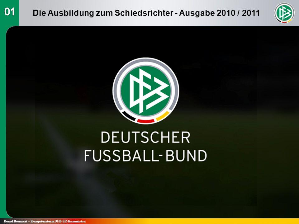 Fußball-Regeln 2010 / 2011 Regel 1 Das Spielfeld Bernd Domurat – Kompetenzteam DFB-SR-Kommission Die Ausbildung zum Schiedsrichter - Ausgabe 2010 / 2011
