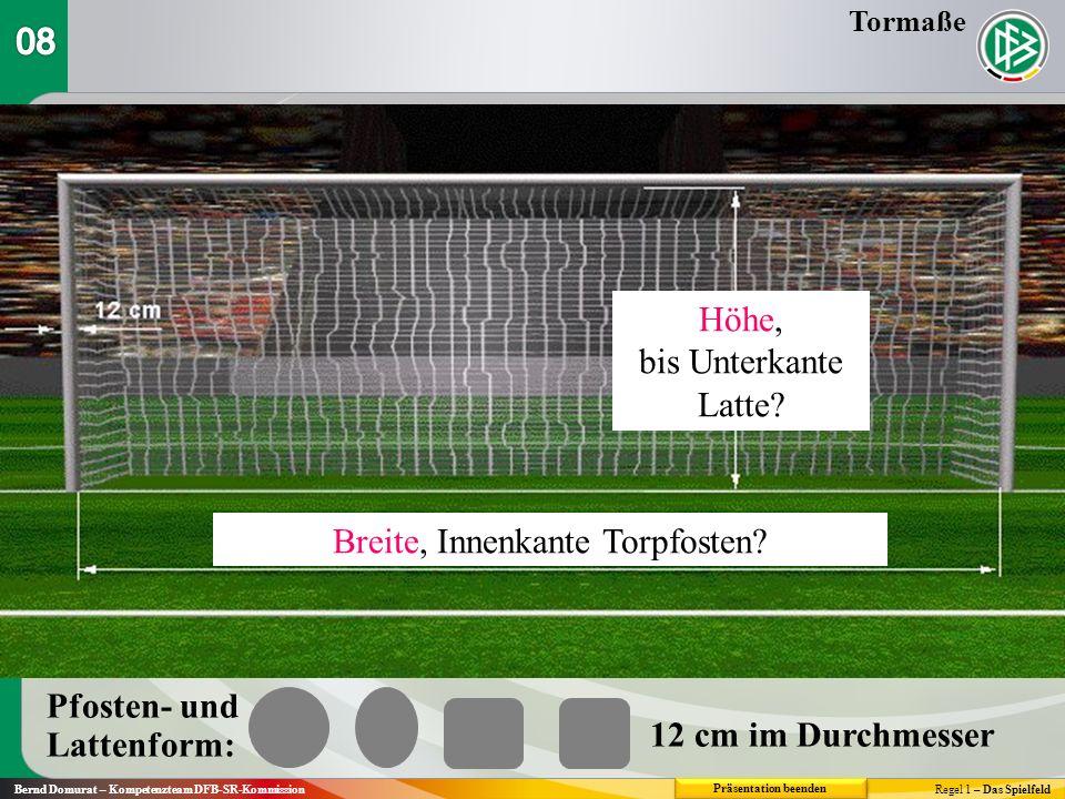 Bernd Domurat – Kompetenzteam DFB-SR-KommissionRegel 1 – Das Spielfeld 6.