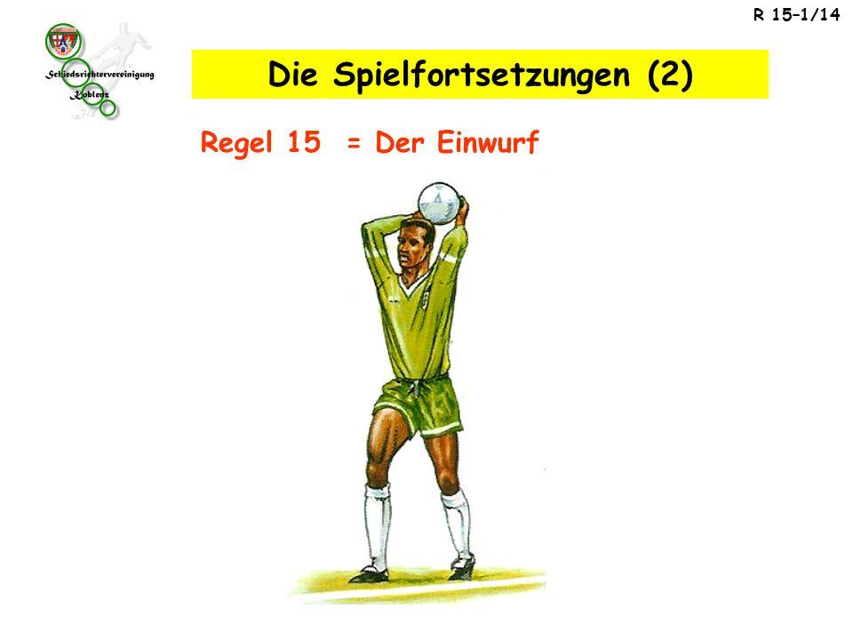 R 15–1/14 Regel 15 = Der Einwurf Die Spielfortsetzungen (2)
