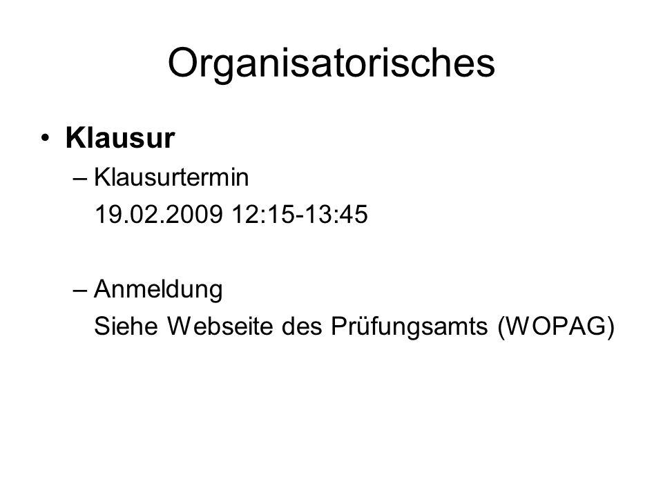 Organisatorisches Literatur –Varian, Hal R.: Grundzüge der Mikroökonomik, 7.