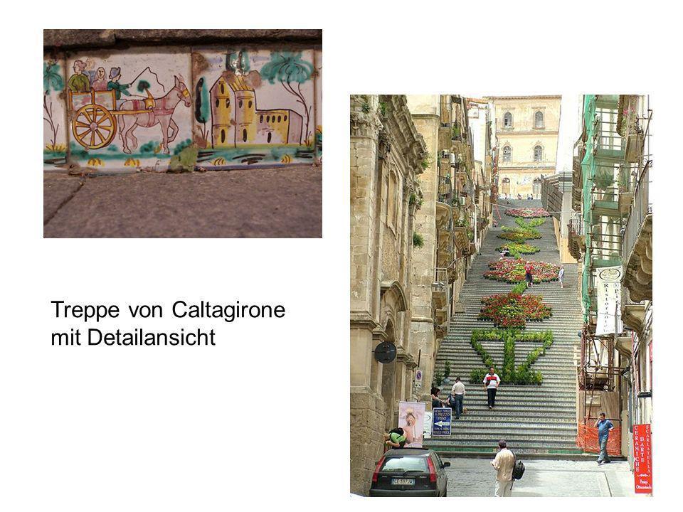 Treppe von Caltagirone mit Detailansicht