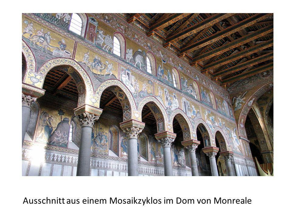 Ausschnitt aus einem Mosaikzyklos im Dom von Monreale