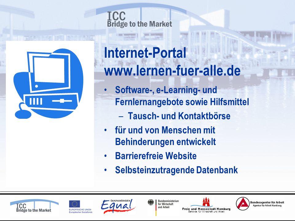 Freie und Hansestadt Hamburg Behörde für Wirtschaft und Arbeit Internet-Portal www.lernen-fuer-alle.de Software-, e-Learning- und Fernlernangebote sow