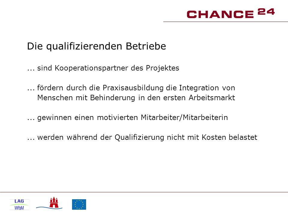 Die qualifizierenden Betriebe... sind Kooperationspartner des Projektes...