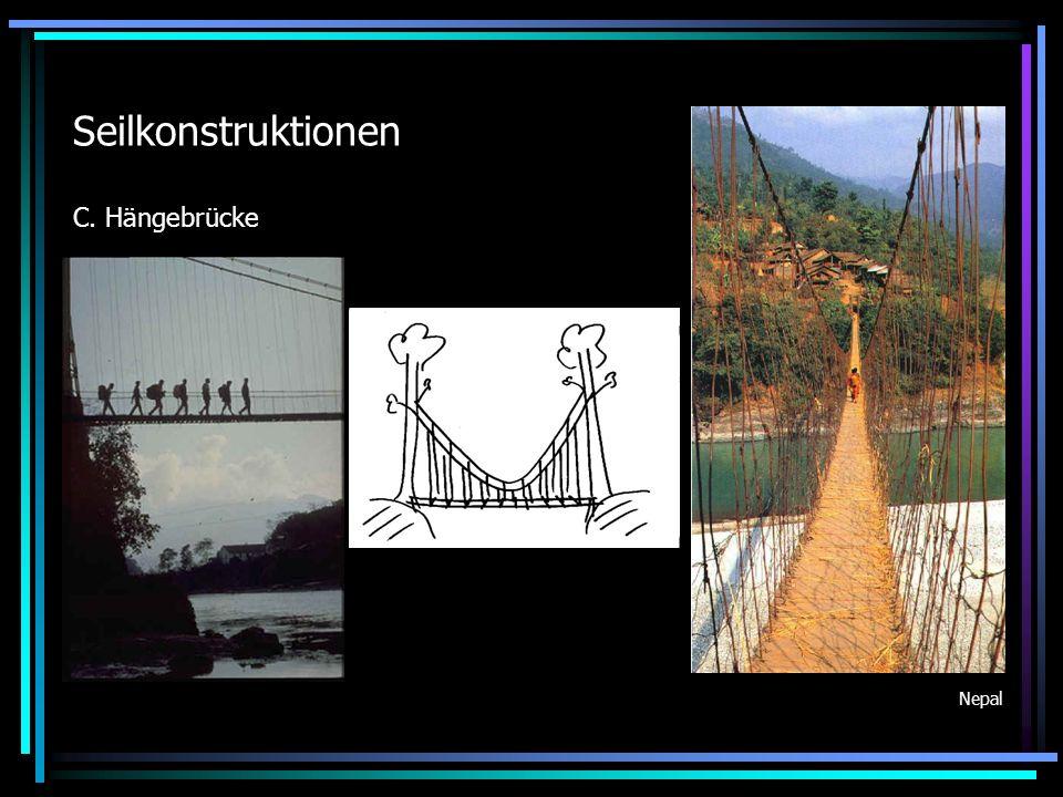 Seilkonstruktionen C. Hängebrücke Nepal