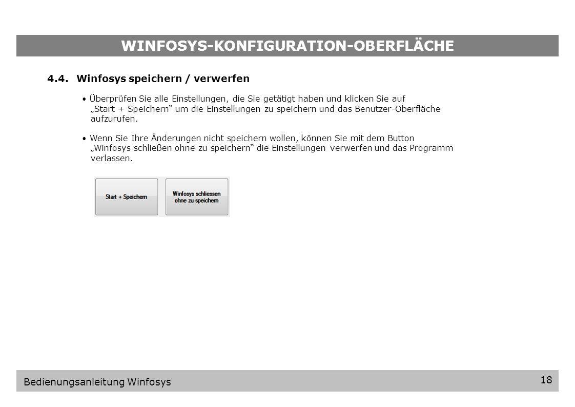 WINFOSYS-KONFIGURATION-OBERFLÄCHE 17 Bedienungsanleitung Winfosys Drücken Sie den OK-Button und folgen Sie der Aufforderung eine Ereignisbezeichnung e