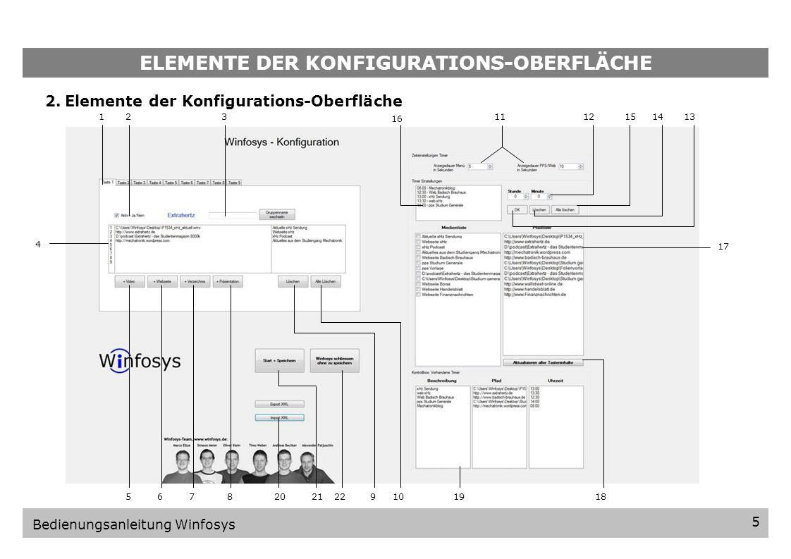 VORBEREITUNG 4 Bedienungsanleitung Winfosys 1.3.Programm starten Die Winfosys Software wurde nun ordnungsgemäß installiert und wird sofort nach der In