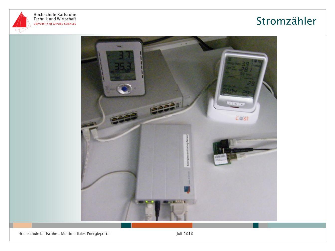 Stromzähler Hochschule Karlsruhe – Multimediales EnergieportalJuli 2010