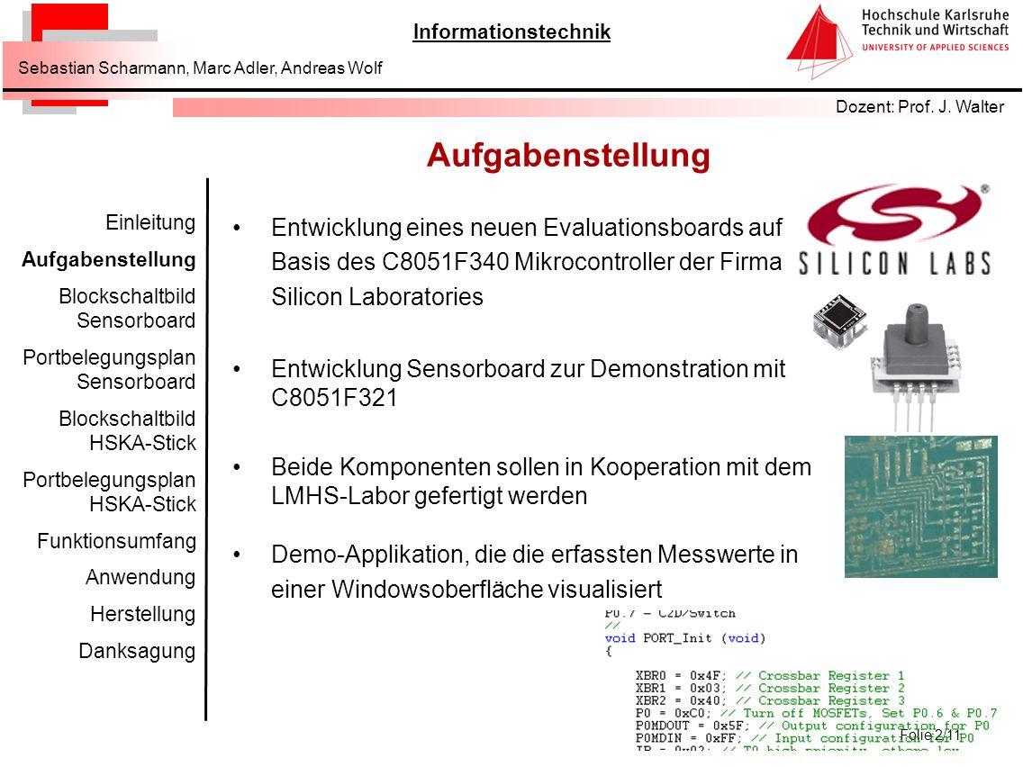 Informationstechnik Dozent: Prof.J.