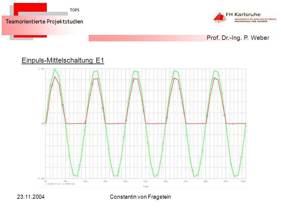 23.11.2004Constantin von Fragstein Zweipuls-Brückenschaltung B2 TOPS Teamorientierte Projektstudien Prof.